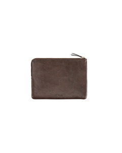 Zip Pouch Brown Leather