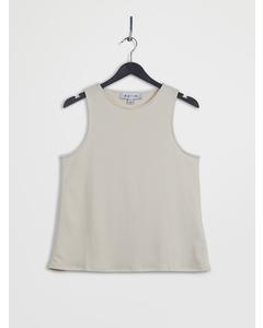 Open Back Lyocell Vest Beige