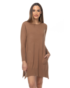 Knit Dress With Side Pockets  And  Open Sides