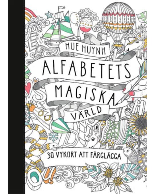Printworks Alfabetets Magiska Värld - 30 Vykort Att Färglägga White
