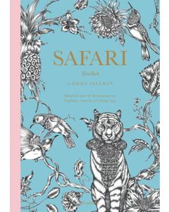Safari: Tavelbok – 20 Ark Att Riva Ut, Färglägga Och Rama In Blue