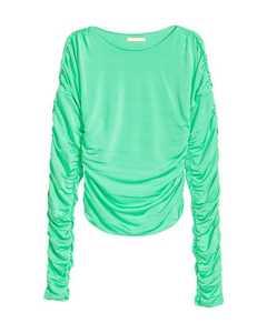 Draped jersey top Light green