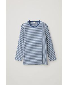Cl M Floracut Stripe Top Blue