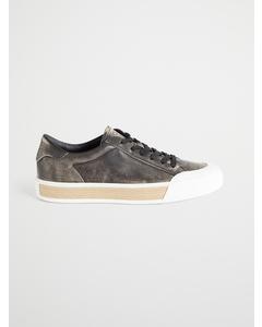 Braided Raffia Sneakers Brown