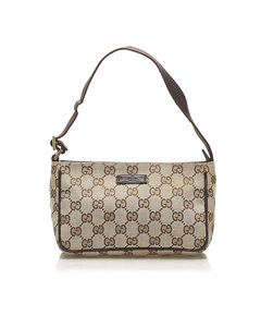 Gucci Gg Canvas Baguette Brown
