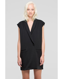 Eden Duster Vest Black