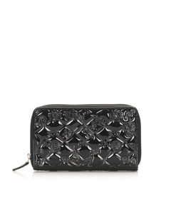 Chanel Matelasse Icon Patent Leather Coin Pouch Black
