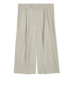 High-waist Culottes Beige