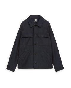 Wool Overshirt Dark Blue