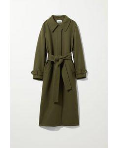 Mantel Ricky aus Wollmix Grün