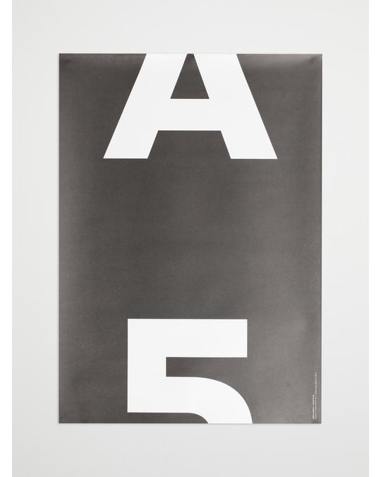 Playtype Artilleriet Edition A5 Mono Poster 50x70 Black