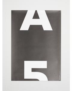 Artilleriet Edition A5 Mono Poster 50x70 Black