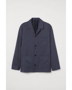 Overhemdjack Van Twill Donkerblauw