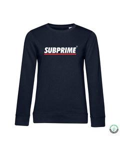 Subprime Sweater Stripe Navy Blau