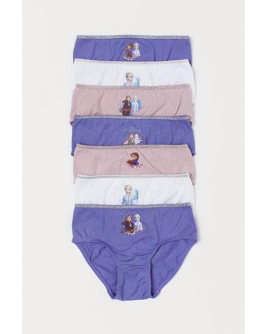 H&M 7-pack Cotton Briefs Purple/frozen