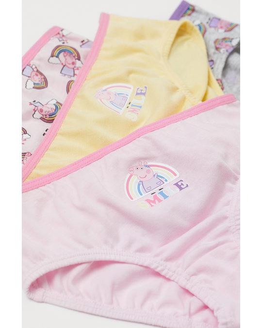 H&M 7-pack Cotton Briefs Light Pink/peppa Pig