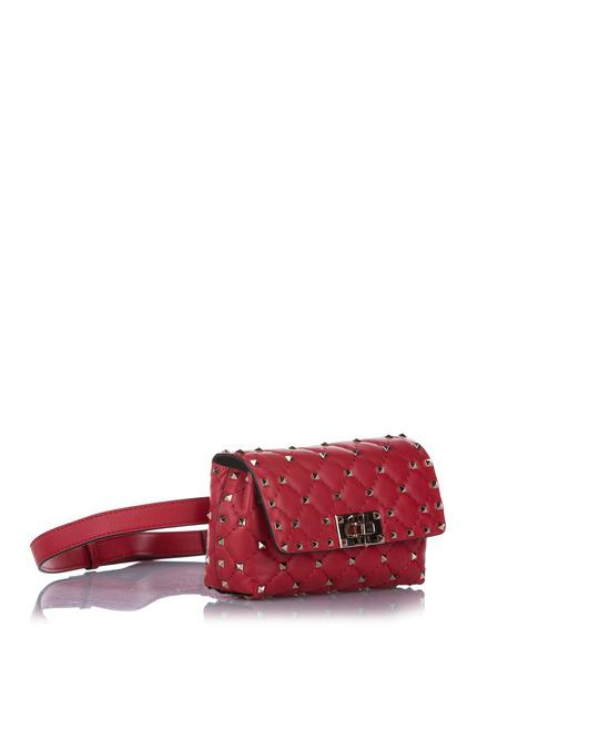 Valentino Valentino Rockstud Leather Belt Bag Red