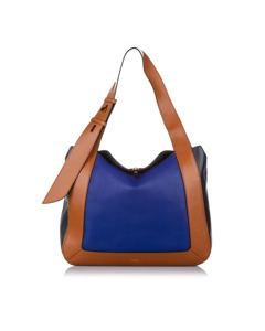 Mulberry Leather Tote Bag Blue