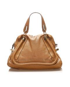 Chloe Paraty Leather Satchel Brown