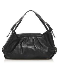 Fendi Doctor B Leather Handbag Black