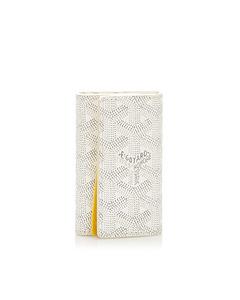 Goyard Goyardine Leather 6 Key Holder White