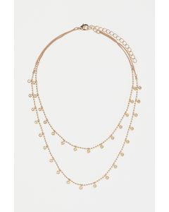 Zweireihige Halskette Goldfarben