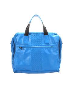 Bottega Veneta Intrecciato Leather Business Bag Blue