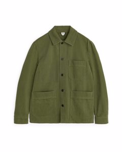 Cotton Twill Workwear Jacket Green