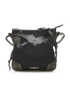 Burberry Nylon Crossbody Bag Black