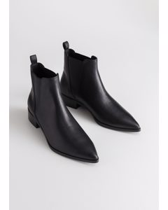 Leather Chelsea Boots Black Leather