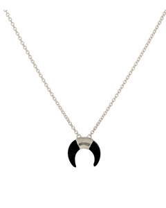 Beaches Moon Necklace Silver
