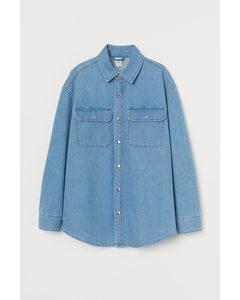 Blusenjacke aus Denim Blau