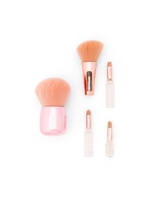 2 Makeup Brushes: 1 Kabuki + 4in1 Brush