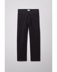 Vacant Cropped Cord Trousers Black