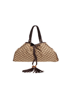 Gucci Gg Canvas Peggy Shoulder Bag Brown