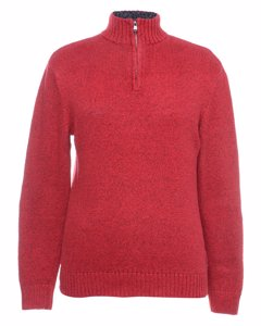 1990 Zip Front Polo Neck Jumper