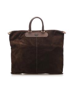 Fendi Suede Tote Bag Brown