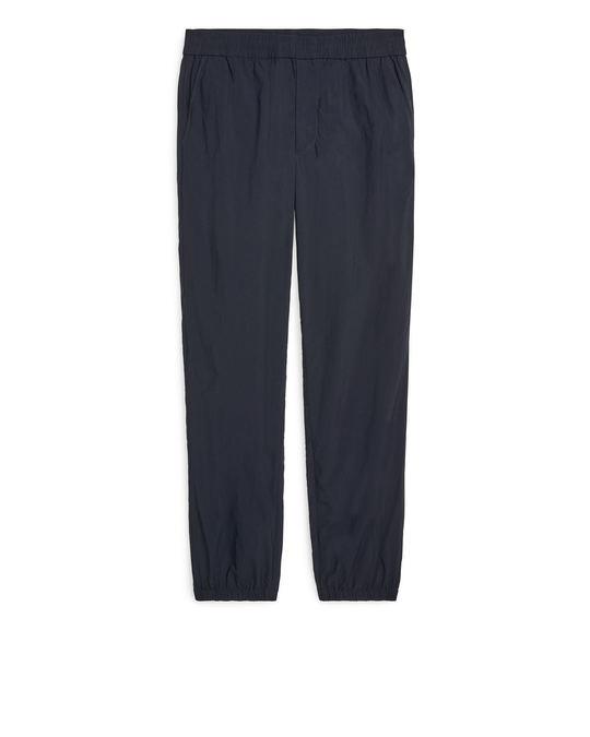 Arket Technical Nylon Trousers Black