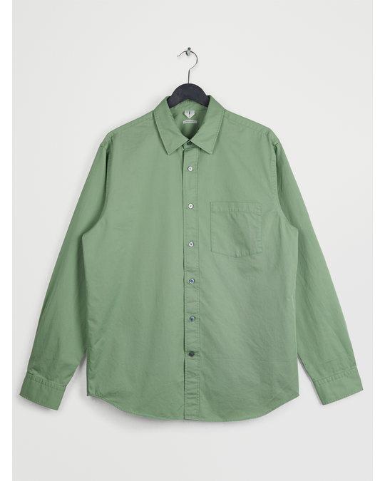 Arket Hemd aus Baumwoll-Twill Grün