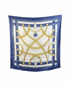 Hermes Paris Vintage Silk Scarf Maillons 1973 Cathy Latham
