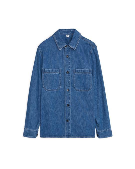 Arket Denim Shirt Mid Blue