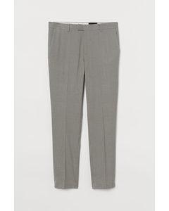 Anzughose Skinny Fit Grau/Beige kariert