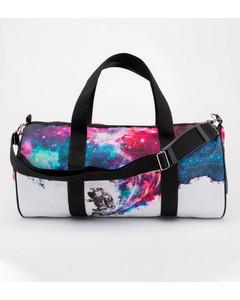 Mr. Gugu & Miss Go Surfing Cosmonaut Duffle Bag Galactic White