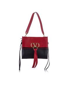 Valentino Vring Leather Shoulder Bag Red