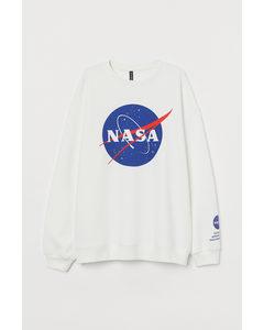 Sweatshirt Weiß/NASA