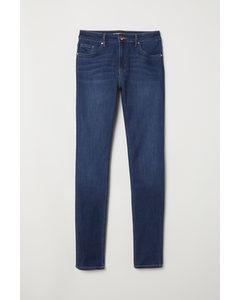 Skinny Regular Jeans Donker Denimblauw