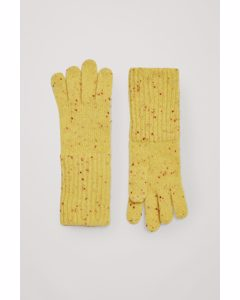Speckled Cashmere Gloves Yellow / Red