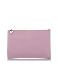 Givenchy Shark Tooth Zip Leather Pouch Pink
