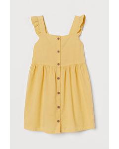 Baumwollkleid Gelb