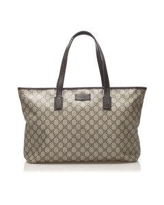 Gucci Gg Supreme Tote Bag Brown